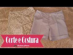 Como Fazer um Shorts Aula de Corte e Costura  jeito facil  de pregar ziper  de short e calça com claudineia antunes