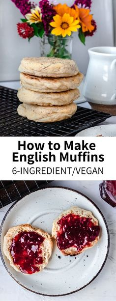 How to Make English Muffins – Garlic Head Easy Vegetable Recipes, Best Vegetarian Recipes, Whole Food Recipes, Dinner Recipes, Healthy Recipes, Vegan Gluten Free Breakfast, Vegan Muffins, Vegan Breakfast Recipes, English Muffins