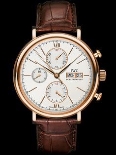 IWC - Portofino Chronograph, ref.IW391020 - Self-winding mvm, cal.75320, 4Hz, 44hr p.r., chronograph, day/date - 42mm, 18ct red gold case, silver dial ~11k