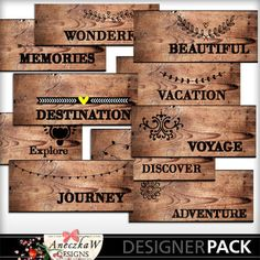 Travel Wood Tags 2