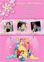 Printable Disney Princess Birthday Invitations with Photos