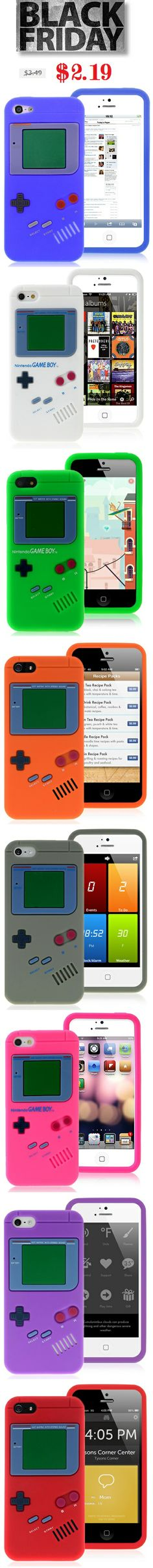 Black Friday 60% Discount on Nintendo Gameboy iPhone 5 5S Silicone Cases #blackfriday #60%off #discount #nintendo #gameboy #iphone5case #siliconecase #cases #iphone5 $2.19