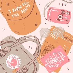 Illustration by Amy Lesko Abstract Illustration, Travel Illustration, Cute Illustration, Tumblr Drawings, Art Drawings, Quotes Together, Doodles, Stickers, Aesthetic Art