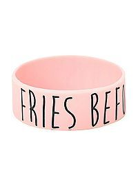 HOTTOPIC.COM - Fries Before Guys Rubber Bracelet