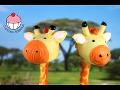Giraffe Cake Pops - video tutorial from My Cupcake Addiction Jungle Cake Pops, Owl Cake Pops, Animal Cake Pops, Animal Cupcakes, Jungle Party, Safari Party, Jungle Safari, Jungle Animals, Cute Cookies
