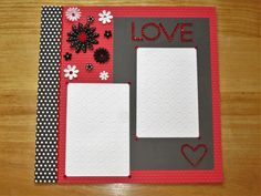 Love Scrapbook Page  Wedding  Engagement  by AngelBDesigns4You