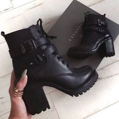 Newest edgy fashion photography. 18697 - Newest edgy fashion photography. High Heel Boots, Heeled Boots, Ankle Boots, Combat Boots Heels, Rock Boots, Teal Shoes, Shoes Heels, Edgy Shoes, Black Shoes