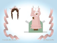 Paper Doll School: December Angel Paper Doll - Day 22