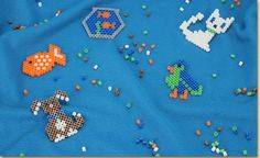 Lay designed Melty Beads on specially design pegboards and heat with an iron to create adorable House Pet Animals! Create a dog, cat, bird, or fish Melty Bead animal!