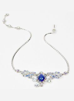 Vintage Blue And Silver Necklace... i would give anything for something like this