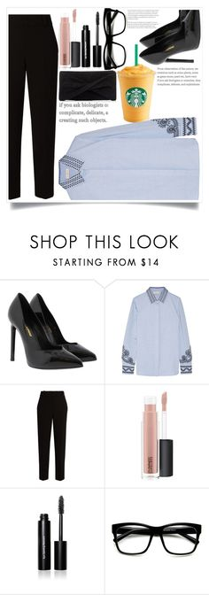"""Casual\Business Look!"" by ashaleethornt ❤ liked on Polyvore featuring Yves Saint Laurent, Tory Burch, The Row, MAC Cosmetics, Bobbi Brown Cosmetics, ZeroUV and Reiss"