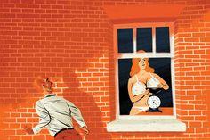 Artista illustra le scene più strane che abbia mai visto sbirciando da una finestra