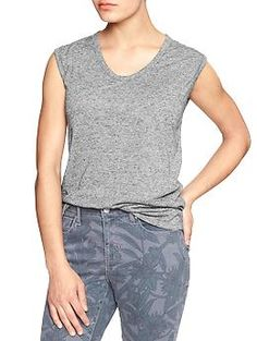 Factory drapey sleeveless tee | Gap