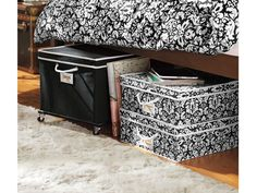 Under-bed storage bins that roll will make your life soooo much easier!