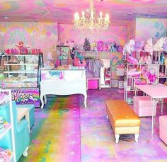 Unicorn Café in the Bang Rak district of Bangkok Thailand is an explosion of pastel rainbows and all things sickly sweet It basically looks like they asked a fivey. Unicorn Cafe, Unicorn Rooms, Unicorn Bedroom, Unicorn Room Decor, Girl Bedroom Designs, Girls Bedroom, Bedroom Decor, Bedroom Ideas, 4 Year Old Girl Bedroom