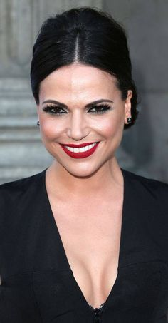Lana Parrilla attending once upon a time season 4 pre premiere.