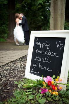 Wedding chalkboards as your walking up to ceremony?