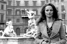 "Charlotte Rampling in Rome for the shooting of ""The Night Porter"""