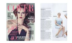 СOVER Magazin.  Karen Heinrichs, German Tv in BLACKY DRESS (right page).