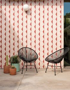 Photo 15 of 20 in Here Are the 10 Interior Design Trends That Will Rule 2020 from This Crisp California Residence Is All About the Courtyard - Dwell Ceiling Tiles, Wall Tiles, Sliding Pocket Doors, Casa Patio, Outdoor Tiles, Outdoor Spaces, Indoor Outdoor, Pink Tiles, Masonry Wall