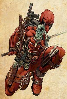 #Deadpool #Fan #Art. (Deadpool Poster) By: Marvel. (TAN-BACKGROUND) (THE * 5 * STÅR * ÅWARD * OF: * AW YEAH, IT'S MAJOR ÅWESOMENESS!!!™)[THANK Ü 4 PINNING<·><]<©>ÅÅÅ+(OB4E)