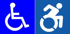 Is it time for a new w/c access icon? ~ Yes! This image is much more dynamic and needs to be standard! Please continue to share this.