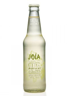 Joia soda.  Just got this from the World Market in Columbus.  So yummy!  Lime, Hibiscus, Clove.