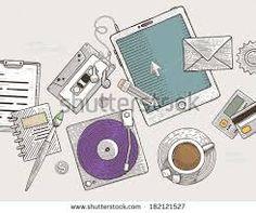 Risultati immagini per vintage cassette player vector
