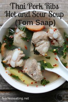 Tom saap really showcases the fragrant depths that fresh lemongrass, galangal and kaffir lime can add to Thai soups. It's also super simple to make at home. Primal Recipes, Dairy Free Recipes, Paleo Recipes, Asian Recipes, Soup Recipes, Whole Food Recipes, Gluten Free, Lunch Recipes, Dinner Recipes