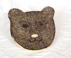 plate bear for my son Julian, Sgraffito.