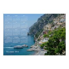 Positano Italy 2018 Calendar Poster - travel photos wanderlust traveling pictures photo