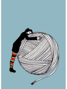 I love knitting!- A ball that big of a chunky yarn would make me so happy!- Might crochet too! Knitting Quotes, Knitting Humor, Crochet Humor, Knitting Yarn, Knitting Projects, Crochet Projects, Knitting Patterns, Crochet Patterns, Love Crochet