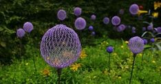 Upcycled Garden Style. . . a website from Gardens Inspired: Construct allium inspired garden stakes