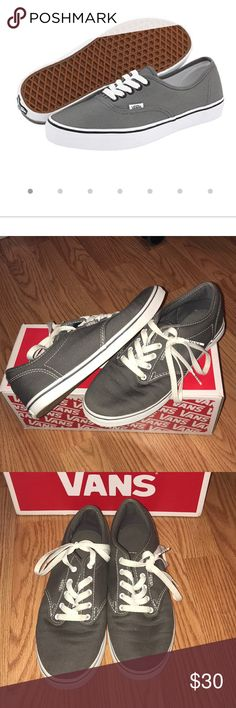 gray atwood low vans grey vans. name is atwood low. size is 8. used twice but in great condition. feel free to make me offers! let me know if you have any questions. Vans Shoes Sneakers
