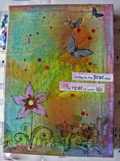 Painted canvas journal by myrtop on Etsy, €30.00, $39.90