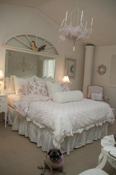 Shabby Chic Decorating: Rebecca Bosch Pink and White