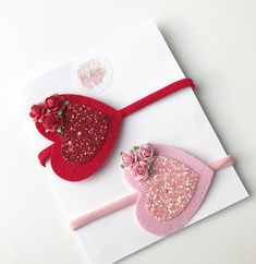 Image of Valentines heart, : Image of Valentines heart, Making Hair Bows, Diy Hair Bows, Diy Bow, Bow Hair Clips, Felt Headband, Baby Girl Headbands, Baby Bows, Valentine Heart, Valentines Diy