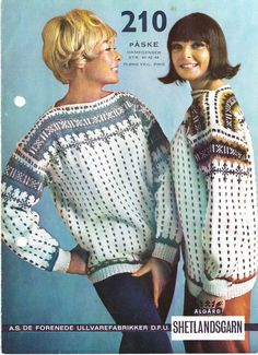 Vintage Knitting, Old And New, Free Pattern, Jumpers, Norway, Sweaters, Jackets, Fashion, Handarbeit