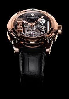 Louis Moinet timepieces, The tourbillon-powered Derrick Gaz combines automaton!
