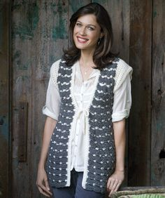 Grey Splendor Vest - free crochet pattern