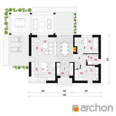 Dom w silene Modern Farmhouse, My House, House Plans, Modern Design, Floor Plans, Real Estate, Cottage, House Design, Cabin