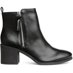 Ankle Boots $34.99 (2.010 RUB) ❤ liked on Polyvore featuring shoes, boots, ankle booties, vegan boots, faux leather booties, vegan booties, black zipper booties and black ankle bootie