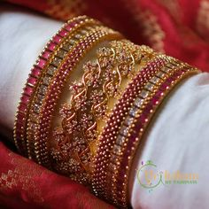 Check out the best imitation bangle designs from the popular jewellery brand Vriksham. Indian Bridal Jewelry Sets, Indian Jewelry Earrings, Bridal Bangles, Fancy Jewellery, Hand Jewelry, Egyptian Jewelry, Egyptian Art, Bridal Jewellery, Crystal Jewelry