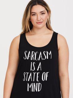 4d21757c83c5b Black Sarcasm Scoop Classic Fit Tank. Nfl ShirtsBand TeesTorridScoop  NeckSarcasmPlus Size ...