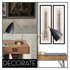 """Decorate."" by budding-designer ❤ liked on Polyvore featuring interior, interiors, interior design, home, home decor, interior decorating, Eichholtz, Lene Bjerre and Gubi"
