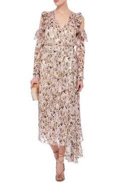 Alberta Open Shouldered Floral Printed Dress by PREEN BY THORNTON BREGAZZI Now Available on Moda Operandi