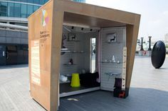 KiosKiosk, designed by Wayne Hemingway. Solar powered pop-up store for eco-entrepreneurs. Now you really can locate anywhere! PopUpRepublic.com