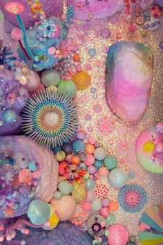 pastel and neon coral Instalation Art, Belle Photo, Pastel Colors, Color Inspiration, Sea Shells, Illustration, Creations, Artsy, Kawaii