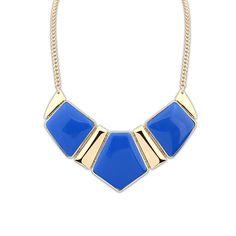 big blue stone necklace#prom
