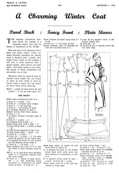 December 1942 Women's outerwear draft | cutterandtailor.com
